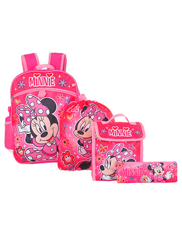 Disney Minnie Mouse 5-Piece Backpack Set - CookiesKids.com