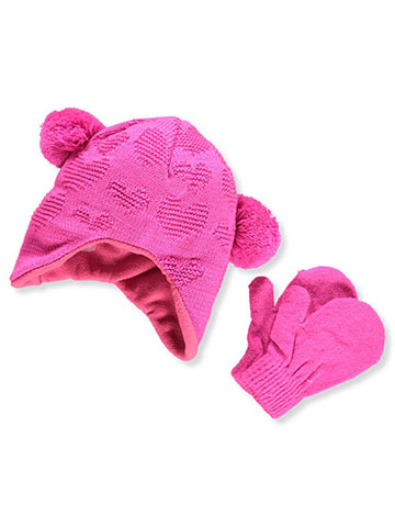 Connex Gear Baby Girls' Beanie & Mittens Set - CookiesKids.com