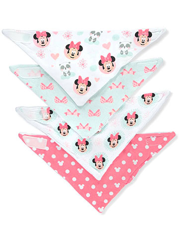 Minnie Mouse Baby Girls' 4-Pack Bandana Bibs - CookiesKids.com