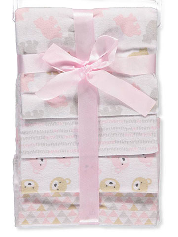 Cribmates Baby Girls' 4-Pack Flannel Receiving Blankets - CookiesKids.com