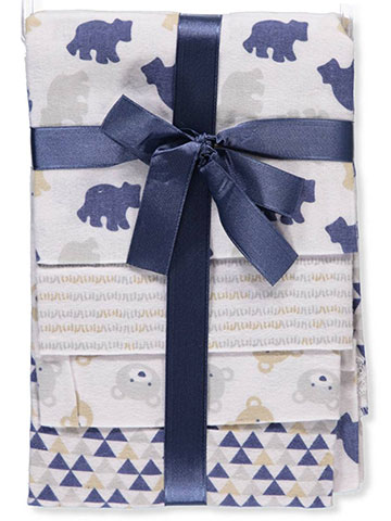 Cribmates Baby Boys' 4-Pack Flannel Receiving Blankets - CookiesKids.com