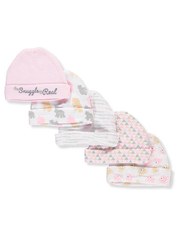 Cribmates Baby Girls' 5-Pack Caps - CookiesKids.com