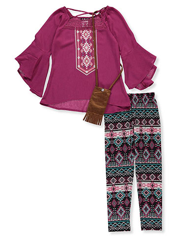 RMLA Girls' 2-Piece Leggings Set Outfit with Purse - CookiesKids.com