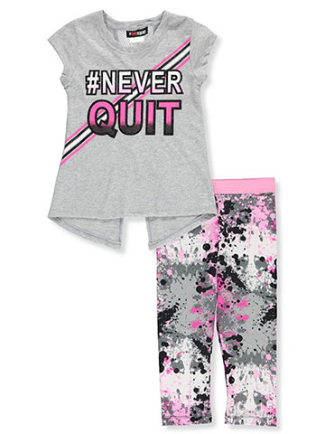 Girl Squad Girls' 2-Piece Leggings Set Outfit - CookiesKids.com