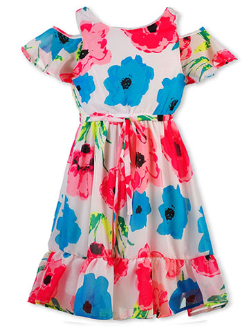 RMLA Girls' Cold Shoulder Dress - CookiesKids.com