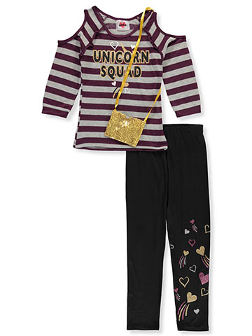 ef4fe4f0e555be RMLA Girls' 2-Piece Leggings Set Outfit with Purse