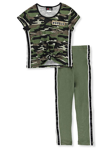 914a1eb1ea7d7 Girl Squad Girls' 2-Piece Leggings Set Outfit