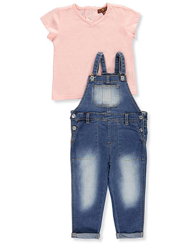 7 For All Mankind Baby Girls' 2-Piece Overalls Set Outfit - CookiesKids.com