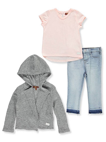 7 For All Mankind Baby Girls' 3-Piece Pants Set Outfit - CookiesKids.com
