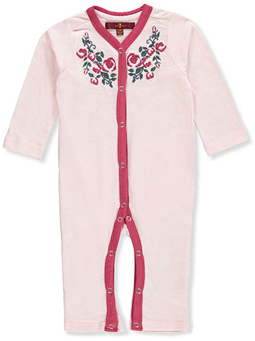 7 For All Mankind Baby Girls' Coverall - CookiesKids.com