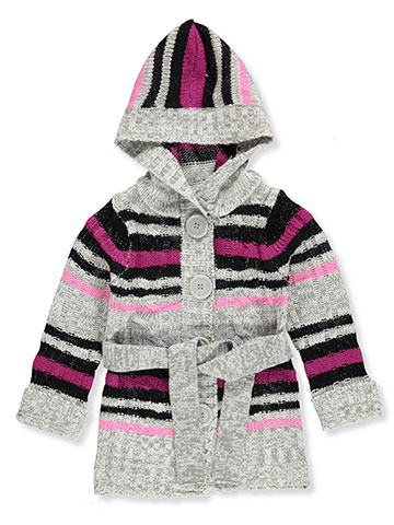 Pink Angel Hooded Belted Sweater - CookiesKids.com