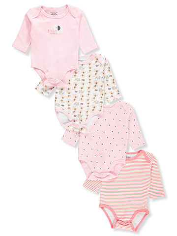 Sweet & Soft Baby Girls' 4-Pack L/S Bodysuits - CookiesKids.com