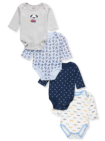 Sweet & Soft Baby Boys' 4-Pack L/S Bodysuits - CookiesKids.com