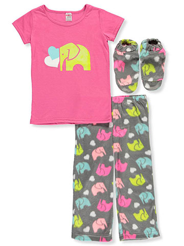 Girl Co Girls' 2-Piece Pajamas with Slippers - CookiesKids.com
