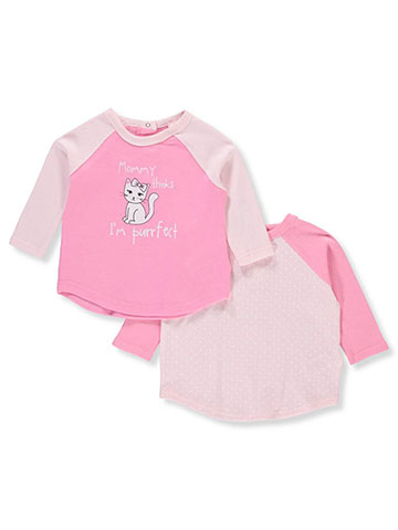 Quiltex Baby Girls' 2-Pack Tops - CookiesKids.com