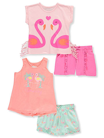 ae86a913290 Freestyle Revolution Girls  4-Piece Mix-and-Match Shorts Set Outfit