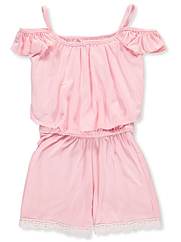 One Step Up Girls' Cold Shoulder Romper - CookiesKids.com