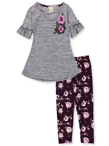 One Step Up Girls' 2-Piece Leggings Set Outfit - CookiesKids.com