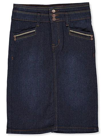 """25052752a No Fuze Big Girls' """"Courtney"""" Denim Skirt (Sizes 7 – 16)"""