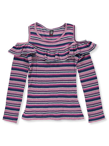 Star Ride Girls' L/S Cold Shoulder Top - CookiesKids.com