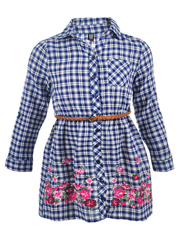 Star Ride Girls' Belted Button-Down Dress - CookiesKids.com