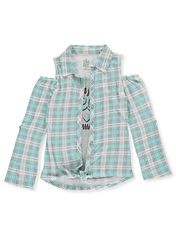 Star Ride Girls' Cold Shoulder Top - CookiesKids.com