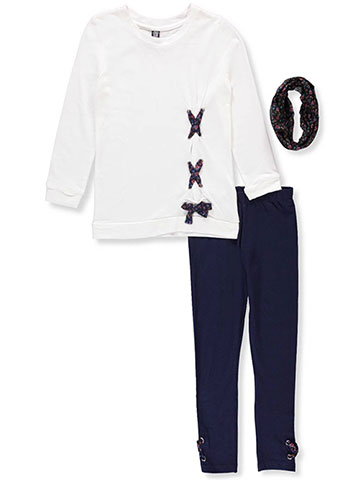 Star Ride Girls' 2-Piece Leggings Set Outfit with Scarf - CookiesKids.com