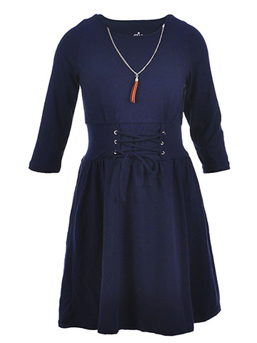 Star Ride Girls' Dress with Necklace - CookiesKids.com