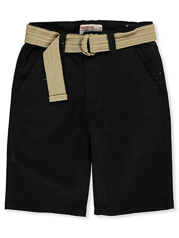 Smith's American Boys' Belted Twill Shorts - CookiesKids.com