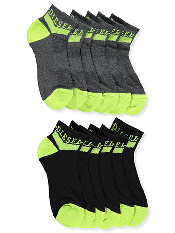 Diesel Boys' 6-Pack Quarter Crew Socks - CookiesKids.com