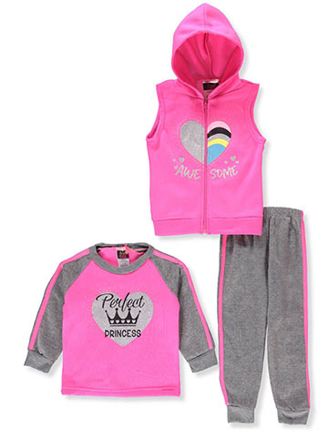 Diva Girls' 3-Piece Pants Set Outfit - CookiesKids.com