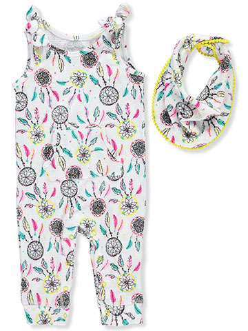 Miniville Baby Girls' Jumpsuit and Bib Set - CookiesKids.com