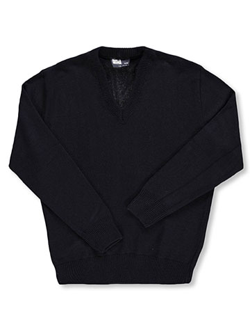 T.Q. Knits Men's L/S V-Neck Sweater (Adult Sizes S – XL) - CookiesKids.com