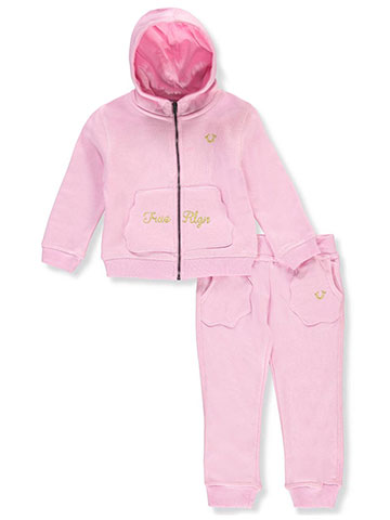 True Religion Baby Girls' 2-Piece Sweatsuit Pants Set - CookiesKids.com