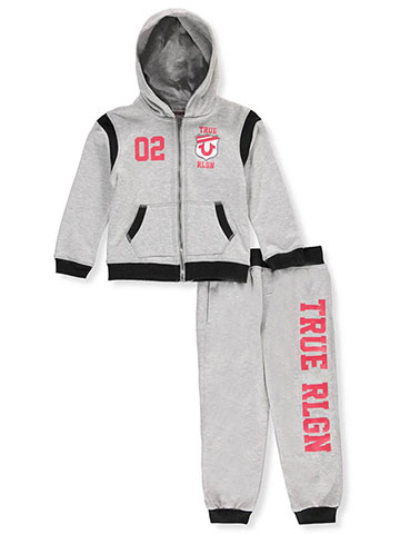 True Religion Boys' 2-Piece Sweatsuit Pants Set - CookiesKids.com
