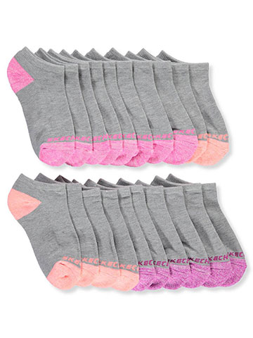 Skechers Girls' 10-Pack No Show Ankle Socks - CookiesKids.com