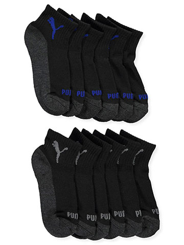 Puma Boys' 6-Pack Quarter Crew Socks (Sizes 9 – 3.5) - CookiesKids.com