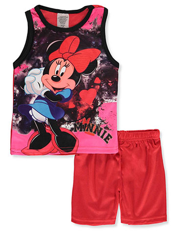 72ef429f37 Disney Minnie Mouse Girls  2-Piece Shorts Set Outfit