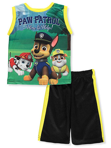 Paw Patrol Boys' 2-Piece Shorts Set Outfit - CookiesKids.com