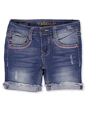 Vigos Girls' Denim Bermuda Shorts - CookiesKids.com