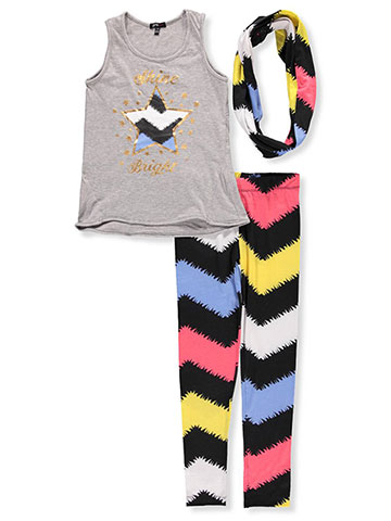 Girls Hearts Girls' 2-Piece Pants Set Outfit with Scarf - CookiesKids.com