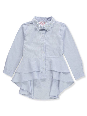 Chillipop Girls' Button-Down Top - CookiesKids.com