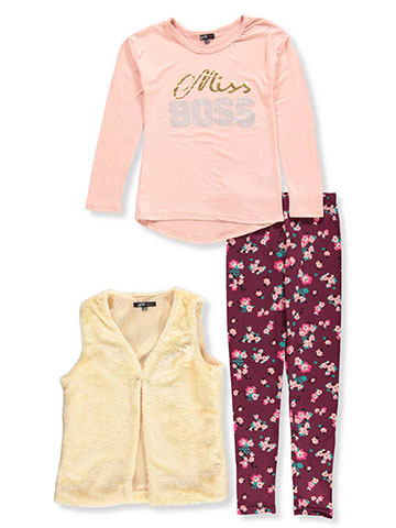 Girls Hearts Girls' 3-Piece Leggings Set Outfit - CookiesKids.com