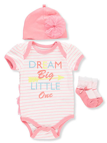 Weeplay Baby Girls' 3-Piece Layette Set - CookiesKids.com