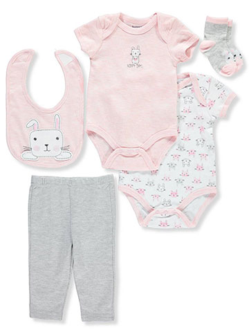 Buster Brown Baby Girls' 5-Piece Layette Set - CookiesKids.com