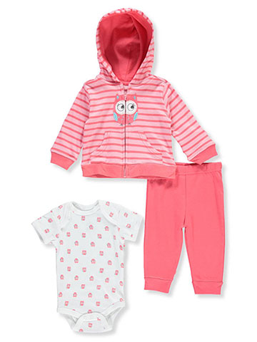Buster Brown Baby Girls' 3-Piece Layette Set - CookiesKids.com