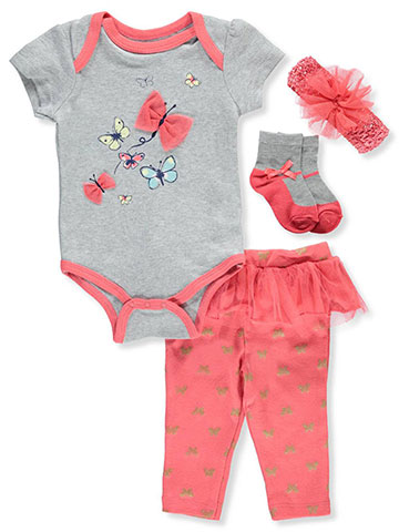Buster Brown Baby Girls' 4-Piece Leggings Set Outfit - CookiesKids.com