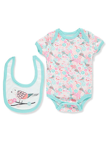 Weeplay Baby Girls' Bodysuit & Bib Set - CookiesKids.com