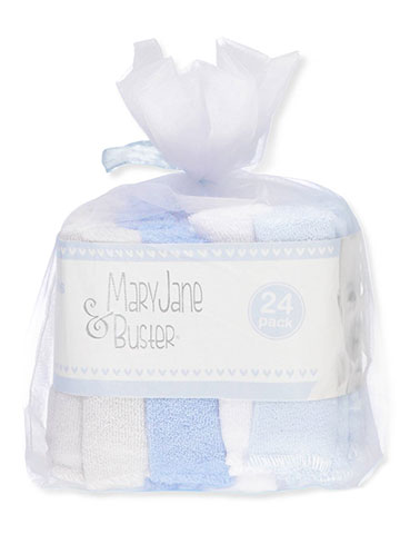 Mary Jane & Buster 24-Pack Terry Washcloths - CookiesKids.com