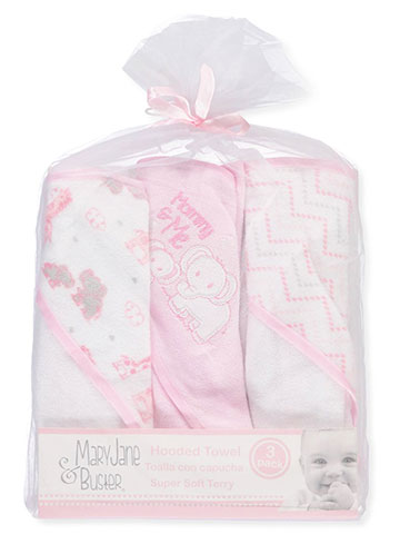 Mary Jane & Buster 3-Pack Hooded Towels - CookiesKids.com